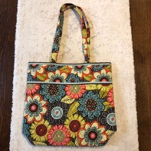 Vera Bradley Flower Power tote floral purse large